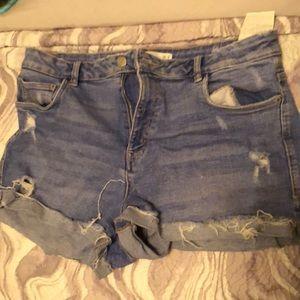 Zara mid waist/high waist  shorts